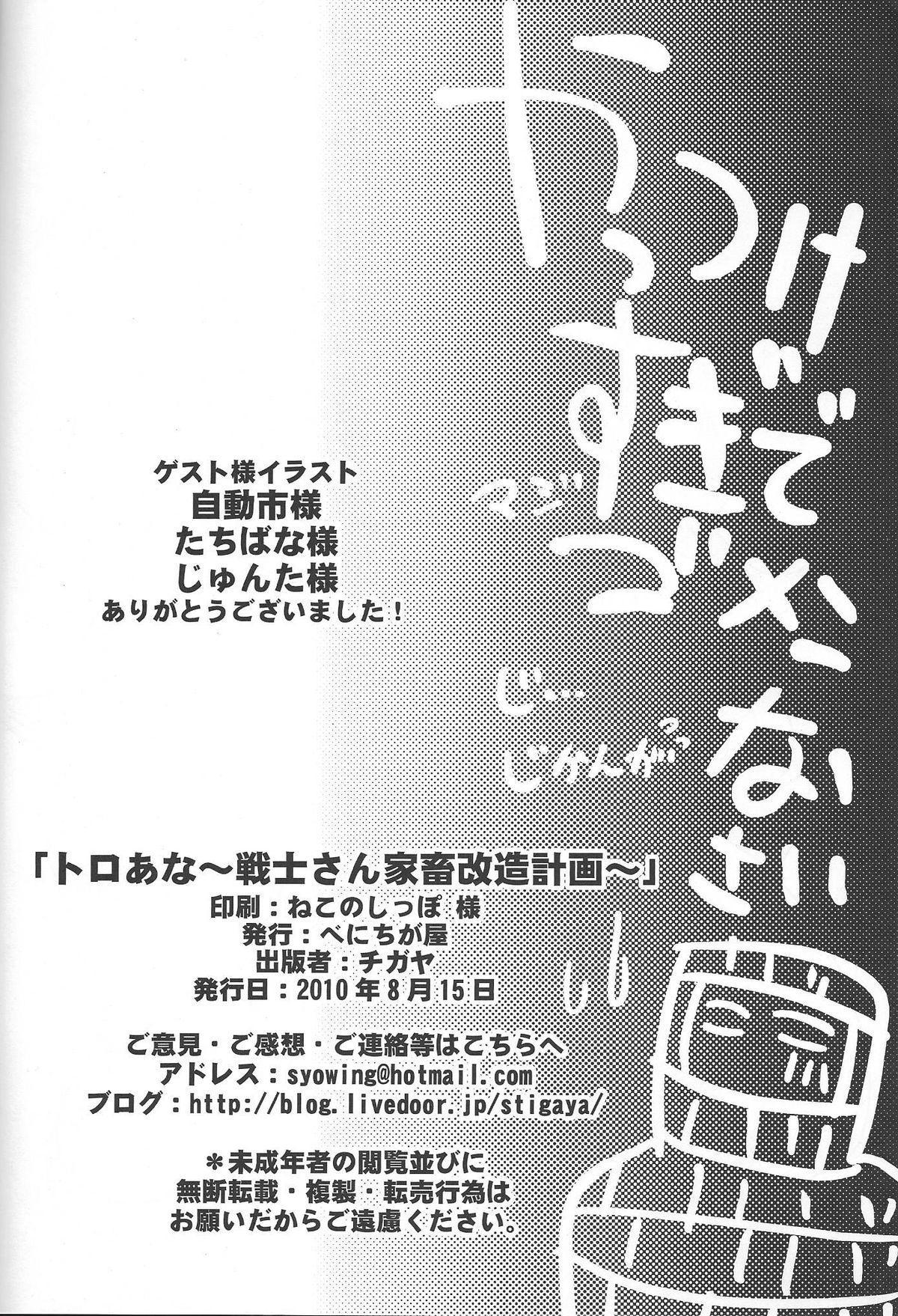 (C78) [Benichiga-ya (Stigaya)] Toro Ana - Senshi-san Kachiku Kaizou Keikaku 20