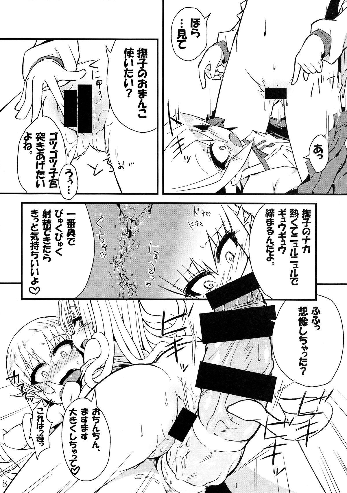 (C85) [Bocchi Koubou (Rutubo)] Hebigami Nadeko-chan ga Futanari Shinobu-chan no Ochinchin de Onanii Suru Hon (Bakemonogatari) 8
