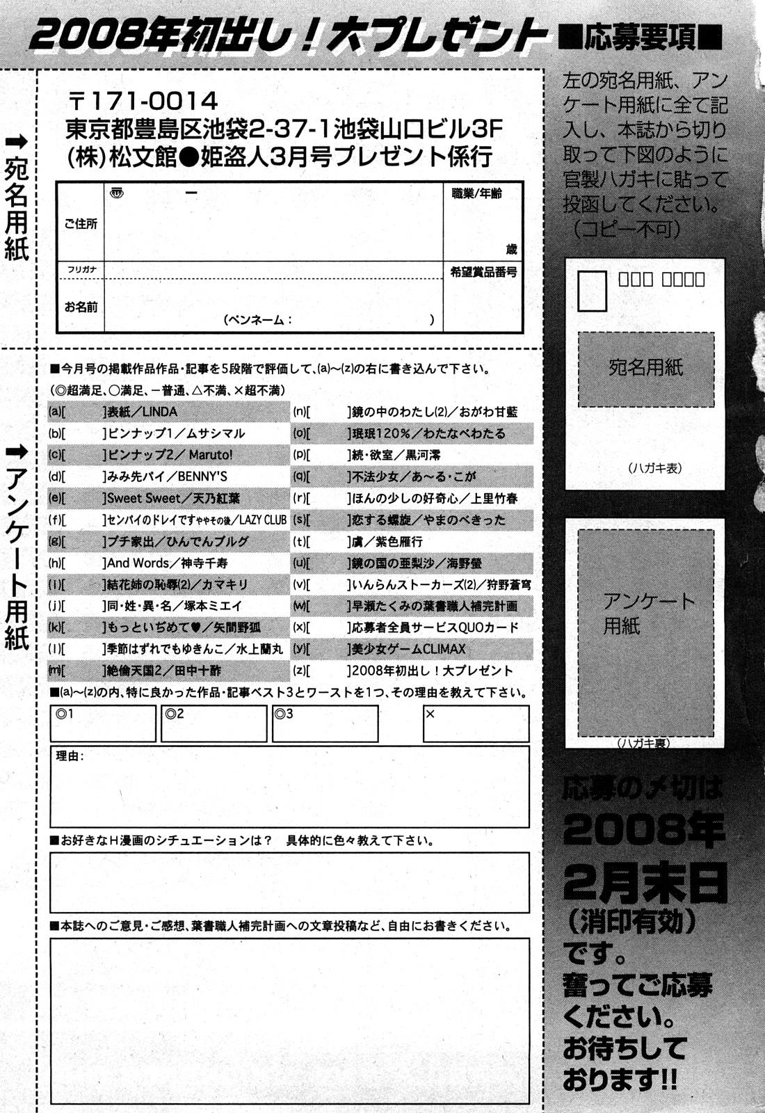 COMIC Hime Dorobou 2008-03 327