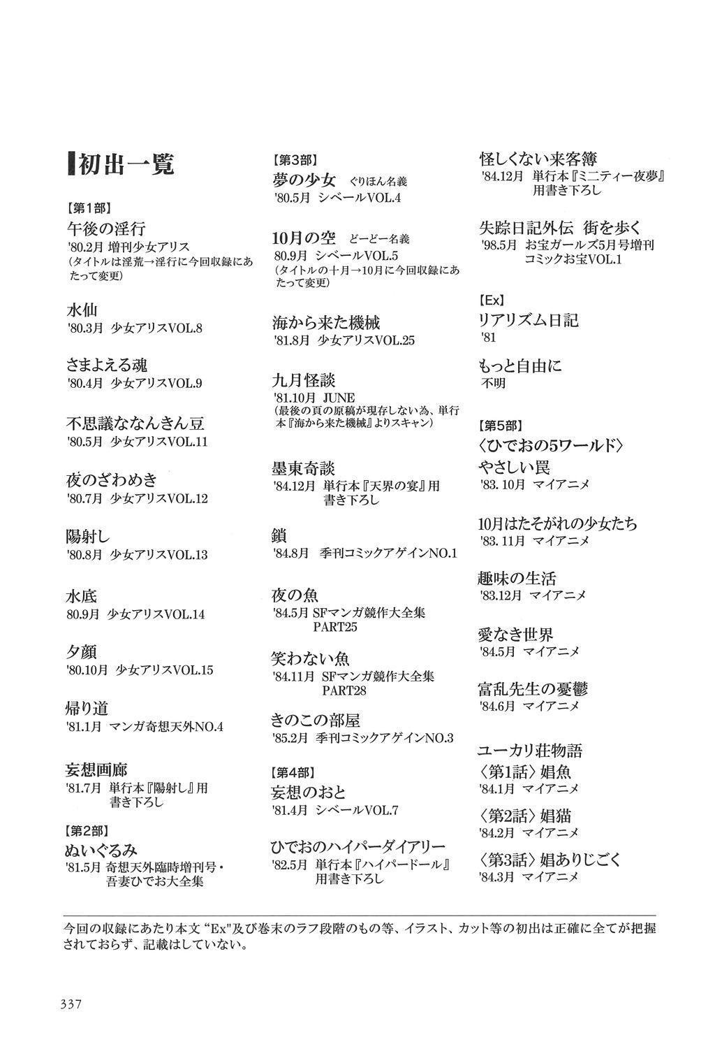 Azuma Hideo Sakuhin Shuusei - Yoru no Tobari no Naka de 337