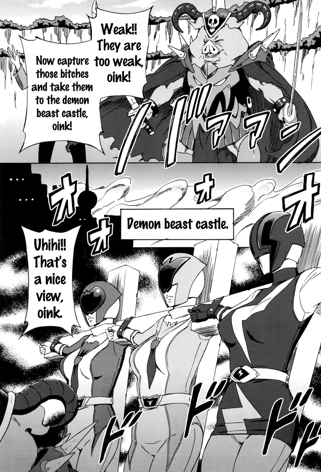 [Amano Ameno] Dai Buta Shougun no Gyakugeki ~Superheroine Taisen~ | Pig General's Counter Attack (COMIC Anthurium 2016-09) [English] {doujins.com} 3
