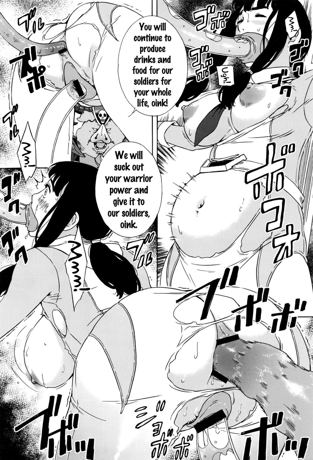 [Amano Ameno] Dai Buta Shougun no Gyakugeki ~Superheroine Taisen~ | Pig General's Counter Attack (COMIC Anthurium 2016-09) [English] {doujins.com} 8