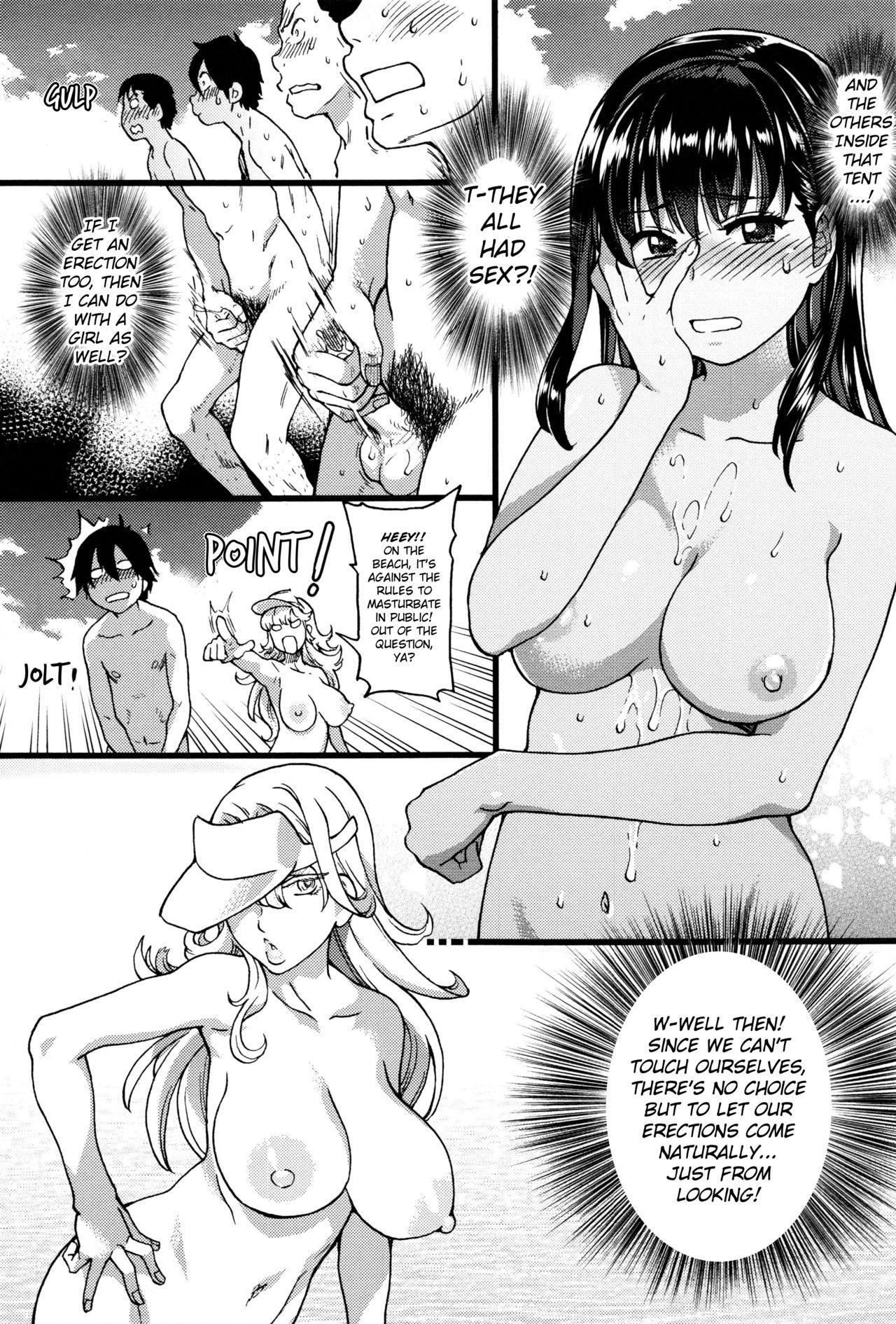 Nudist Beach ni Syuugaku Ryokoude!! - In school trip to the nudist beach!! 84