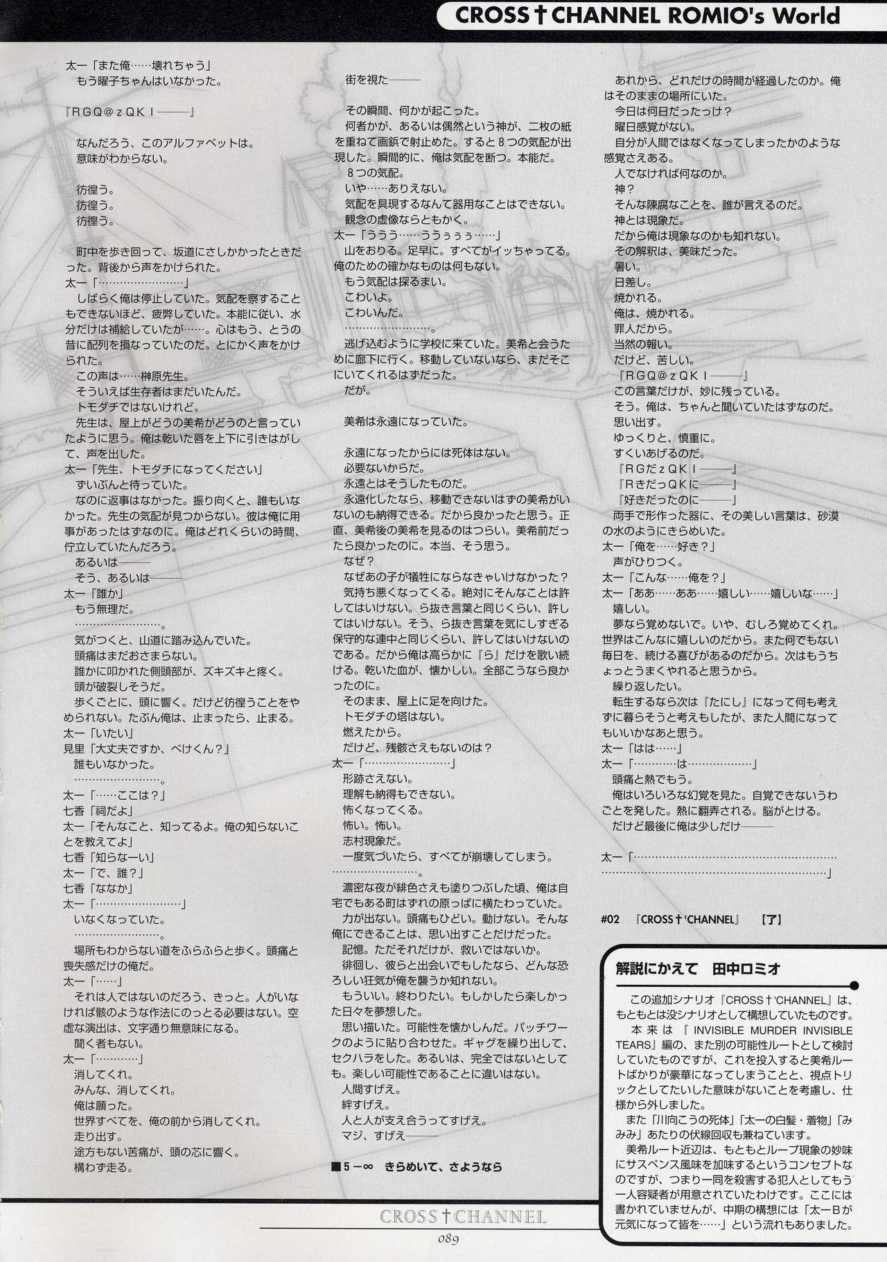CROSS†CHANNEL Official Setting Materials 99