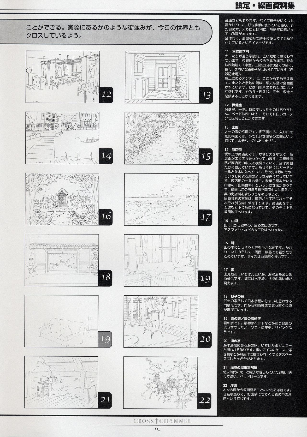 CROSS†CHANNEL Official Setting Materials 125