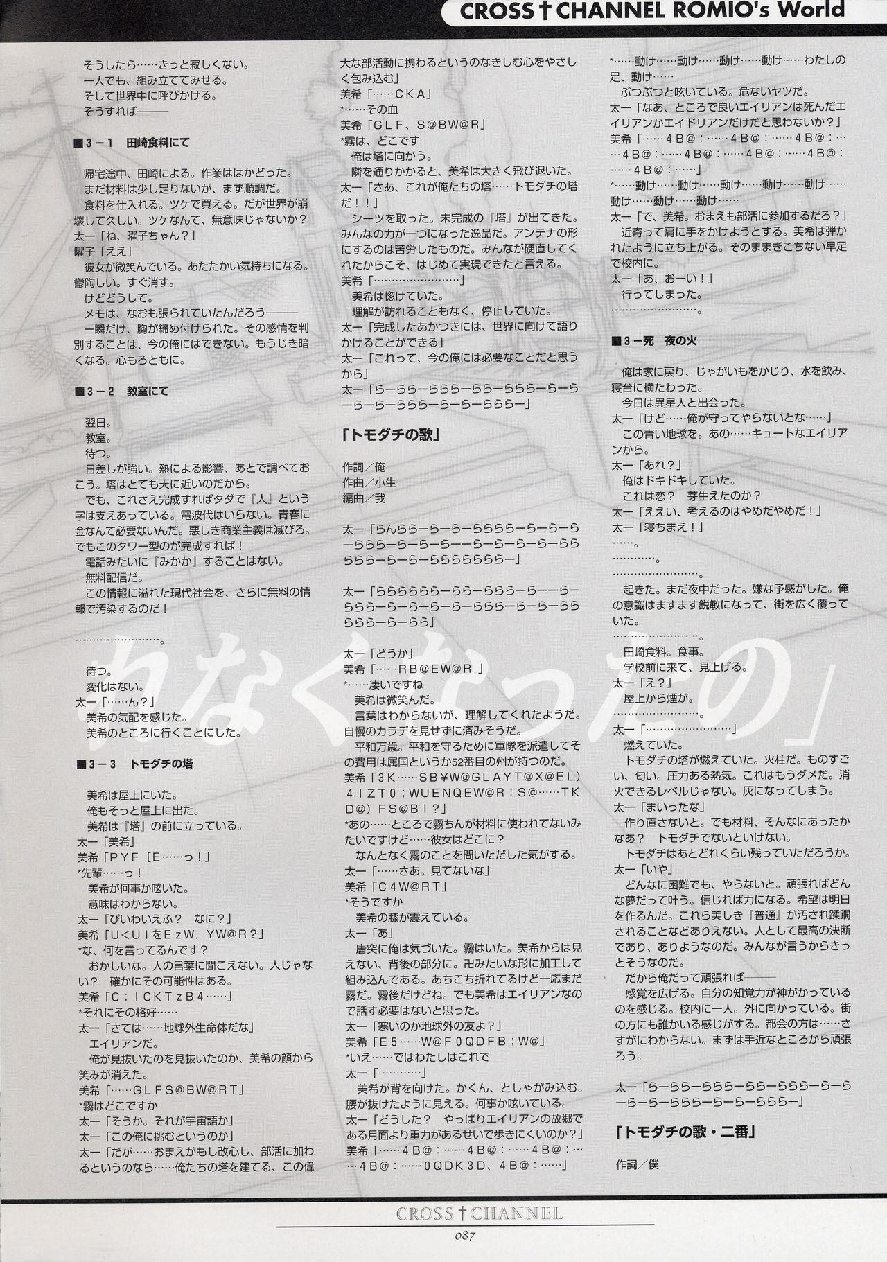 CROSS†CHANNEL Official Setting Materials 97