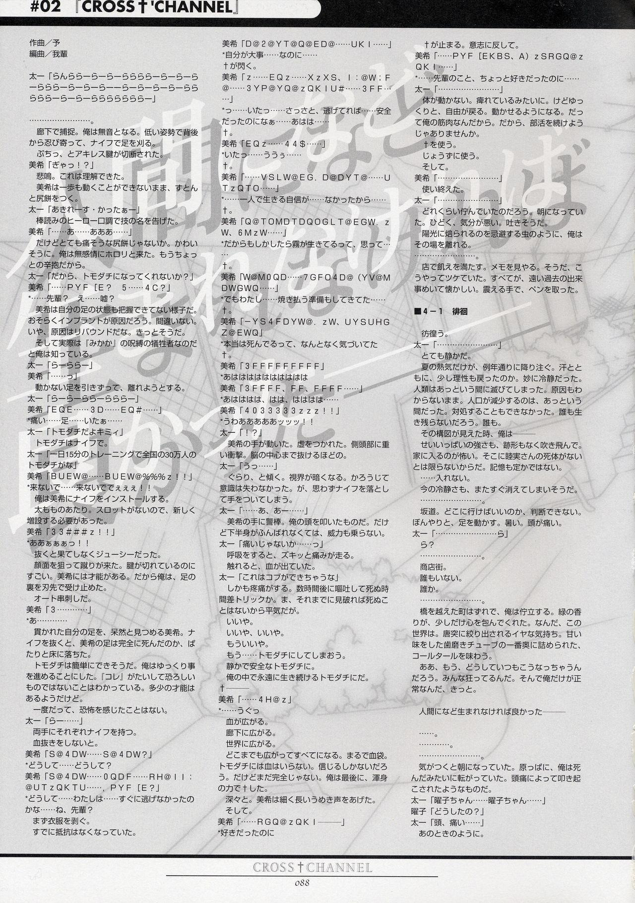 CROSS†CHANNEL Official Setting Materials 98