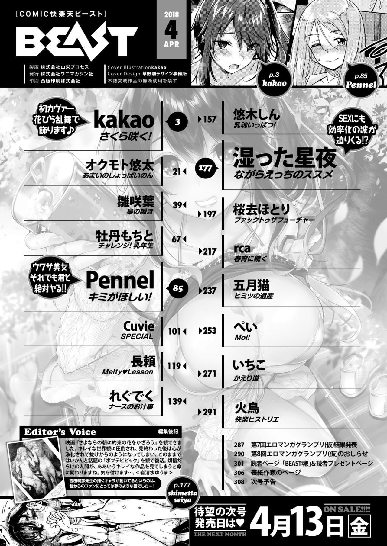 COMIC Kairakuten BEAST 2018-04 2
