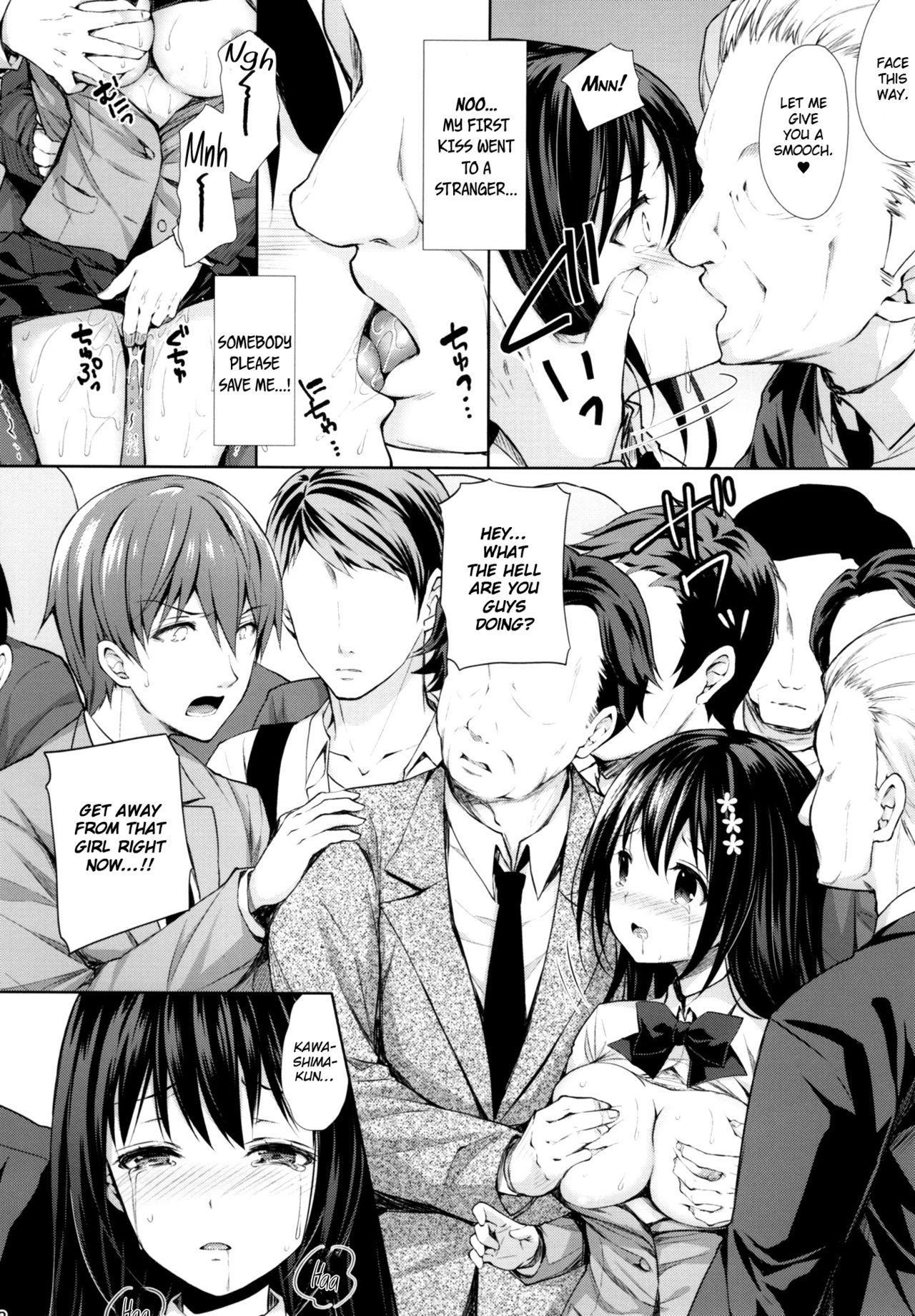 (C93) [Sugar*Berry*Syrup (Kuroe)] Chijoku no Chikan Densha ~Watashi, Sukina Hito no Soba de Chikan Saremashita~ | Shameless Molester on Train ~I got molested beside  the person that I like~ [English] [obsoletezero] 16