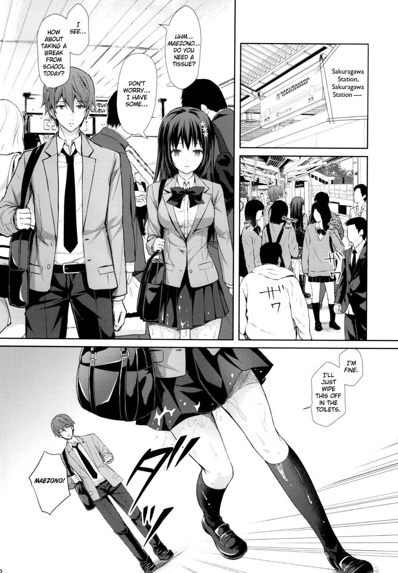 (C93) [Sugar*Berry*Syrup (Kuroe)] Chijoku no Chikan Densha ~Watashi, Sukina Hito no Soba de Chikan Saremashita~ | Shameless Molester on Train ~I got molested beside  the person that I like~ [English] [obsoletezero] 20