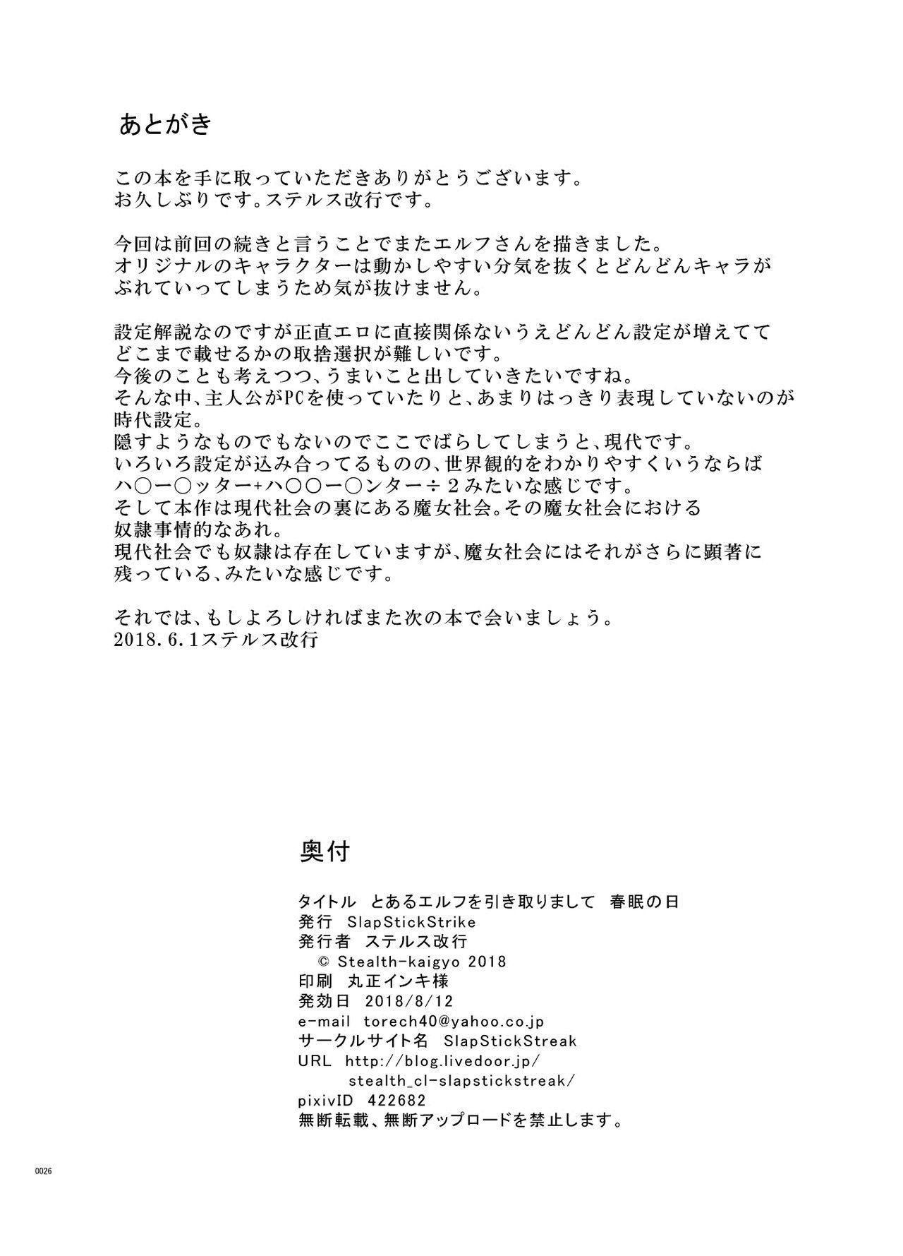 Toaru Elf o Hikitorimashite Shunmin no Hi 24