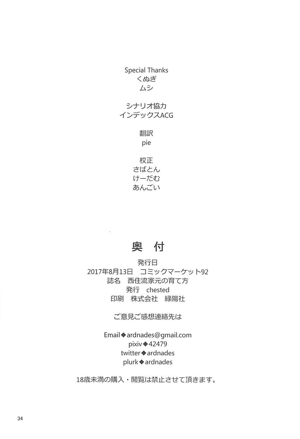 Nishizumi-Ryuu Iemoto no Sodatekata 33