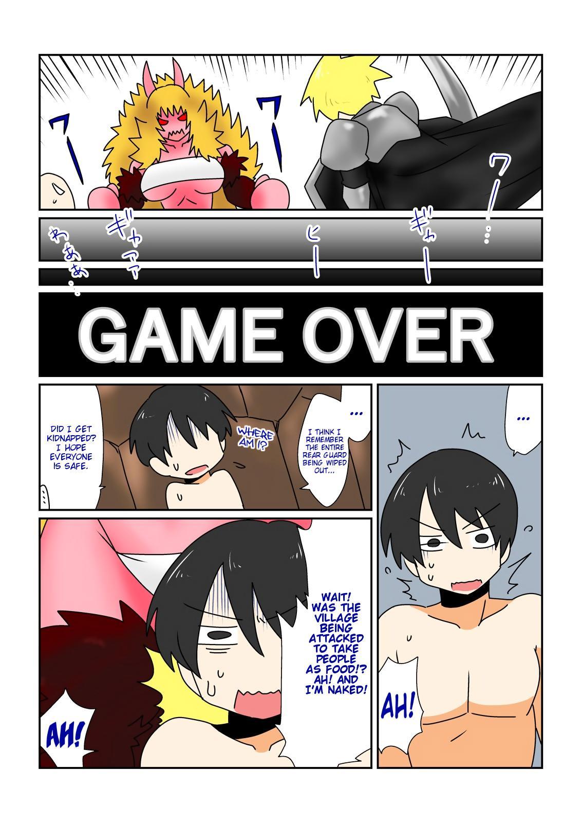 [Hroz] Game Over -Akahada Ogre Musume Hen- | Game Over 〜Red Skin Ogre Girl Edition〜 [English] [Digital] {Erelzen} 1