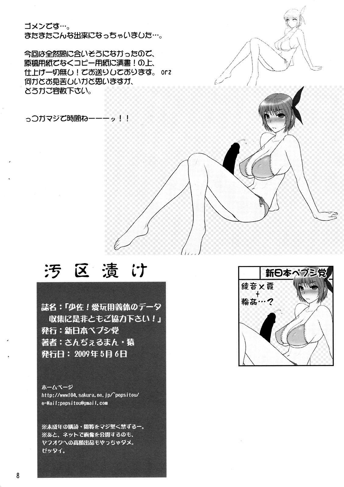 Shousa! Aigan Yougi tai no Deeta Shuushuu ni Zehi Tomo go Kyouryoku Kudasai! 7