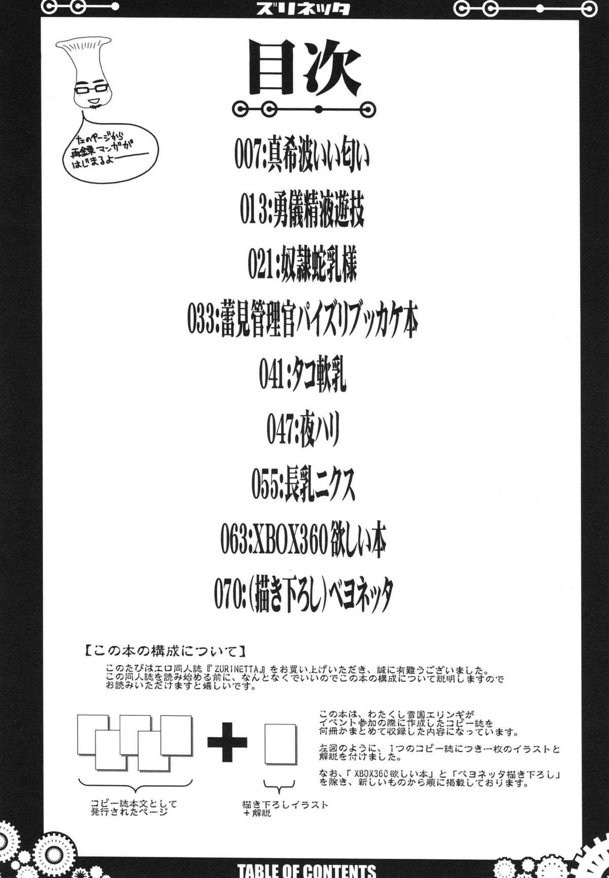 (C77) [VARIABLE? (Yukiguni Eringi)} Zurinetta (Various) 4