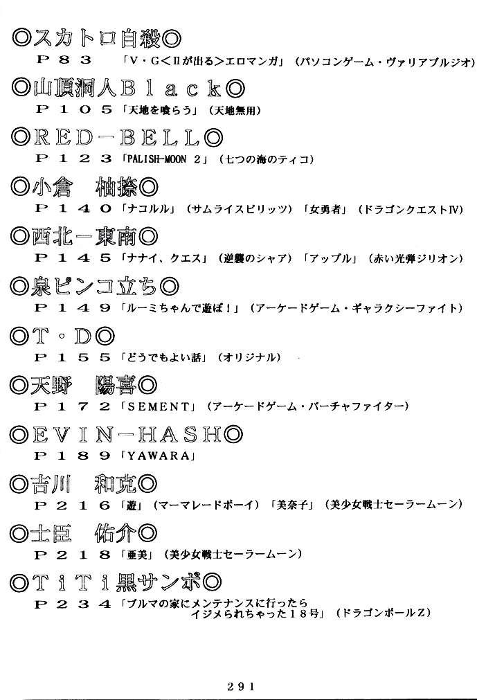 (C47) [Tsurikichi Doumei (Various)] Kenka-ya Nan Demo-R (Various) 289