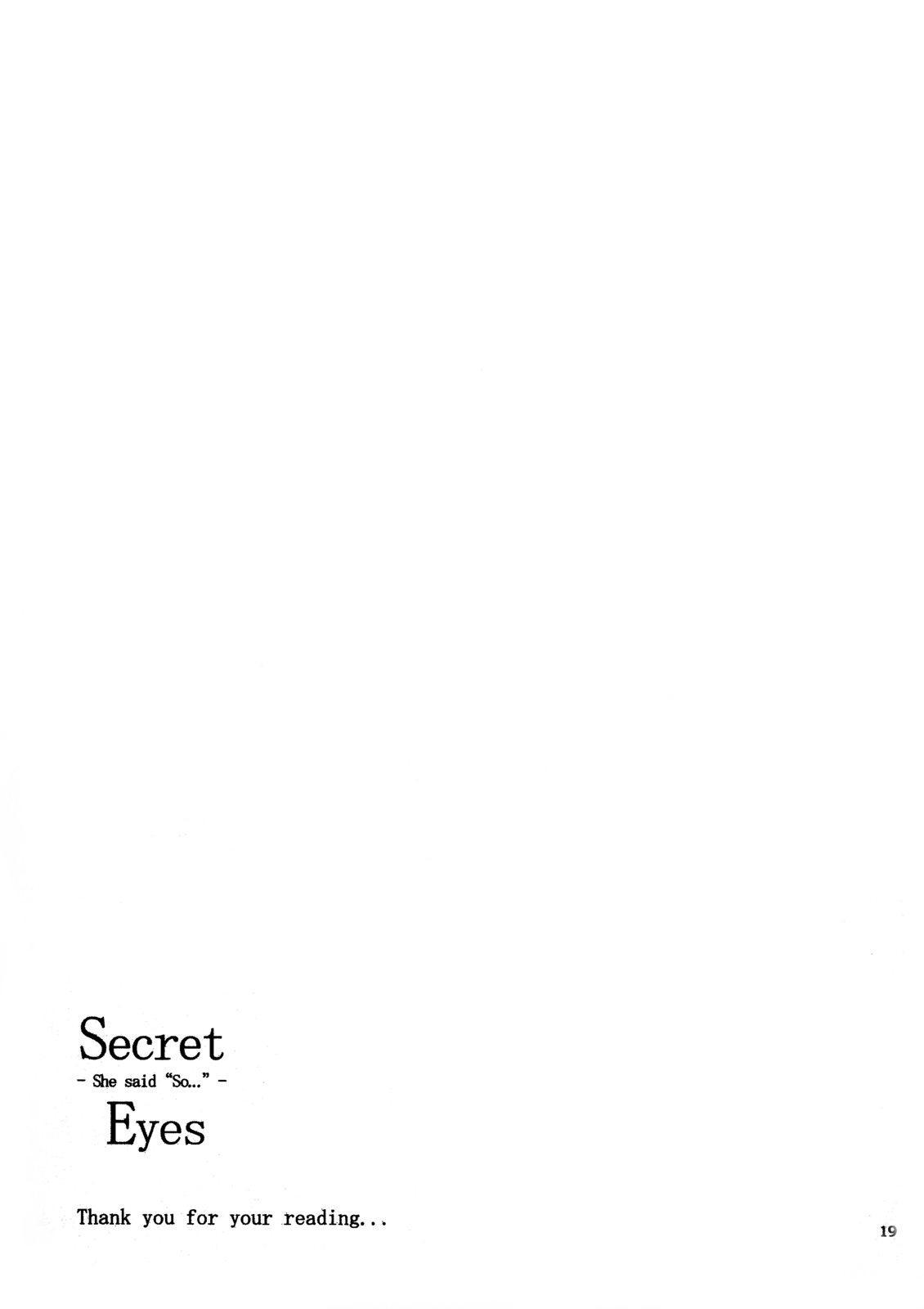 Secret Eyes - She said ''So...'' 18